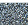 Ponybead 6/0 Blue Color Lined Transparent Light Topaz